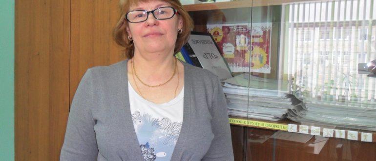 Нина Федоровна - старший инструктор-методист МАУ «Физкультурно-спортивный комплекс» г. Емва.