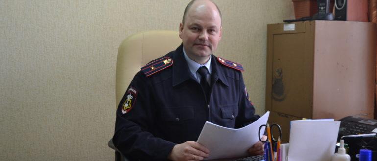 начальник отделения вневедомственной охраны по Княжпогостскому району майором полиции Сергеем Кормилицыным