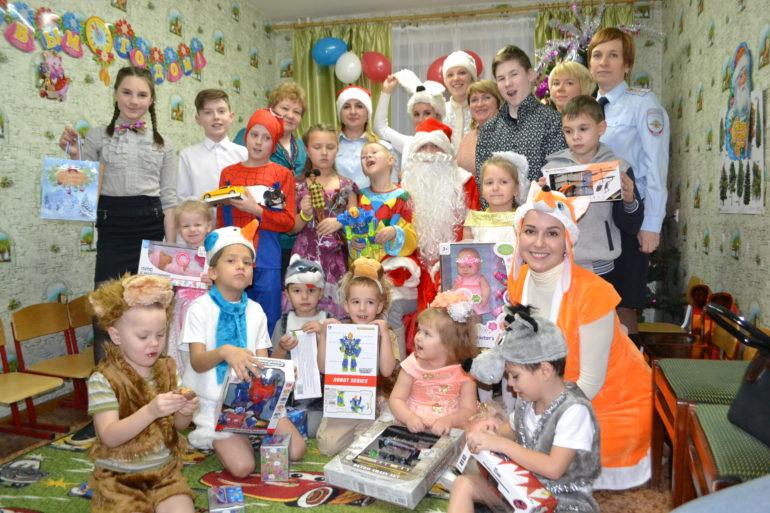 Воспитанников приюта поздравили с Новым годом