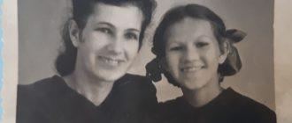 Школьница Ада Мицкевич с мамой (Емва)